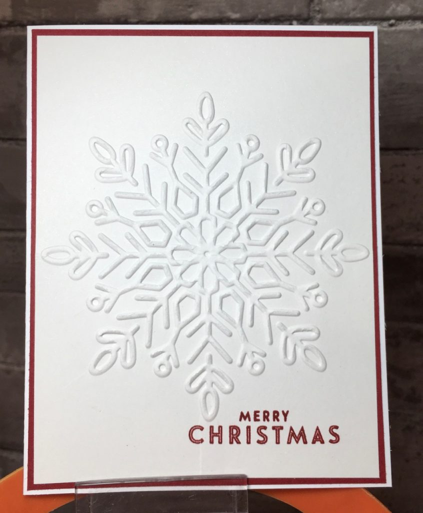 Why You Should Still Send Christmas Cards in the Mail - embossed snowflake