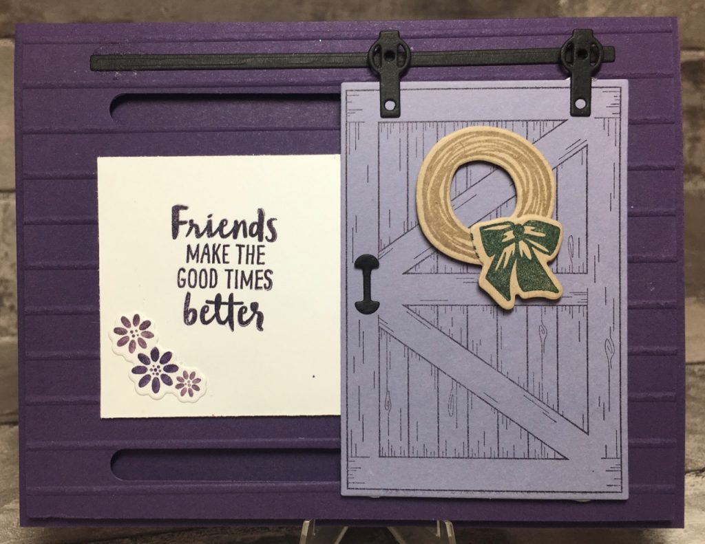 My First Attempt At Making A Barn Door Card Stamping With Blythe