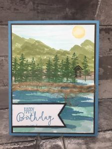 Stampin' Up! Birthday Card - Occasions 2018 - Waterfront