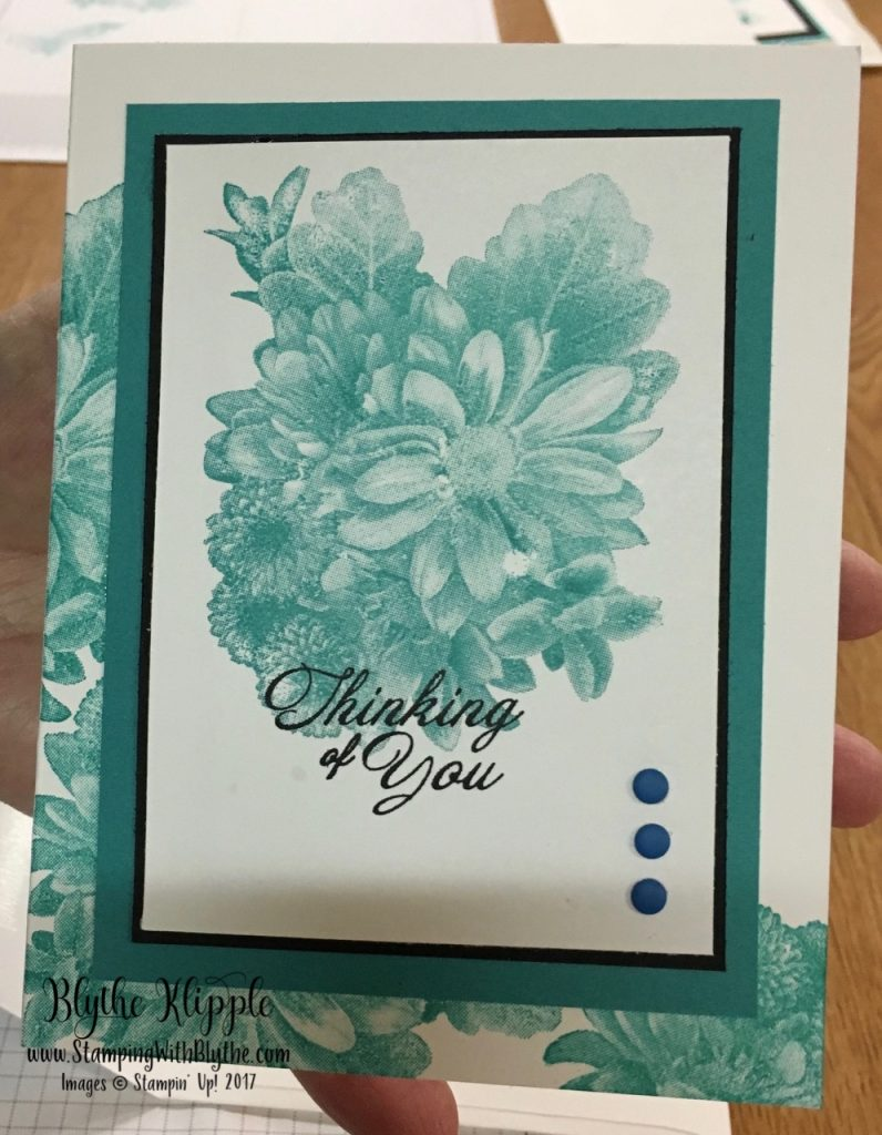 Stamping on a Normal Schedule - Roberta's card