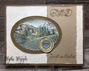 The Tuscany Vineyard - Just a note my original card