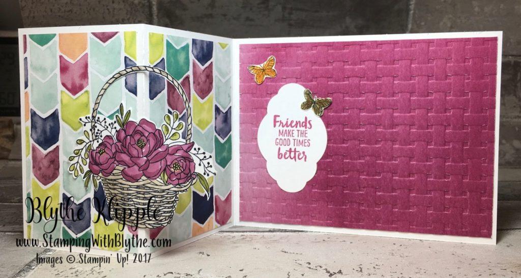 More Blossoming Basket Bundle - z fold opened up