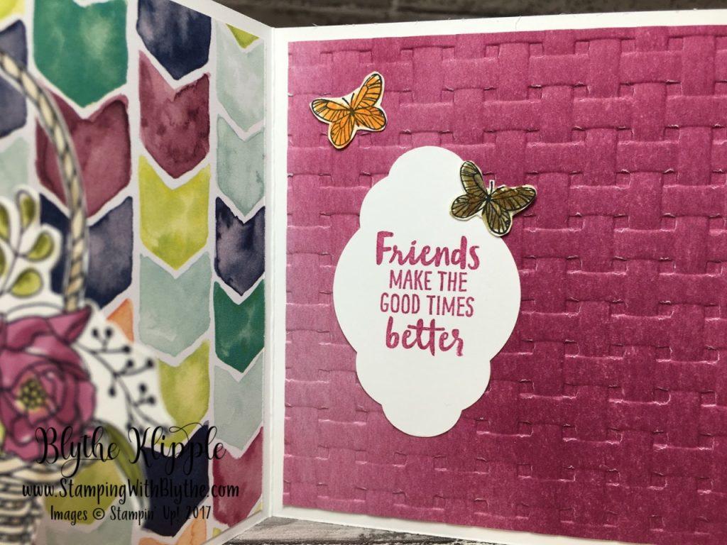 More Blossoming Basket Bundle - inside greeting