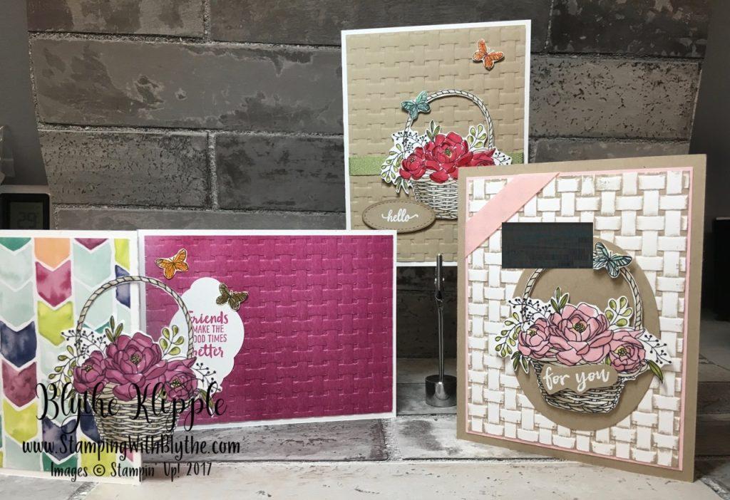 More blossoming basket bundle - group of 3 cards