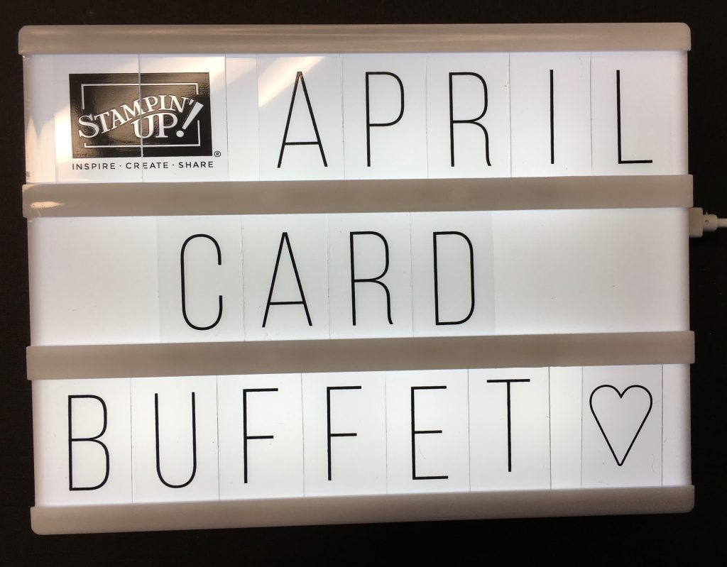 Blythe's April Card Buffet Cards Have Been PostedI