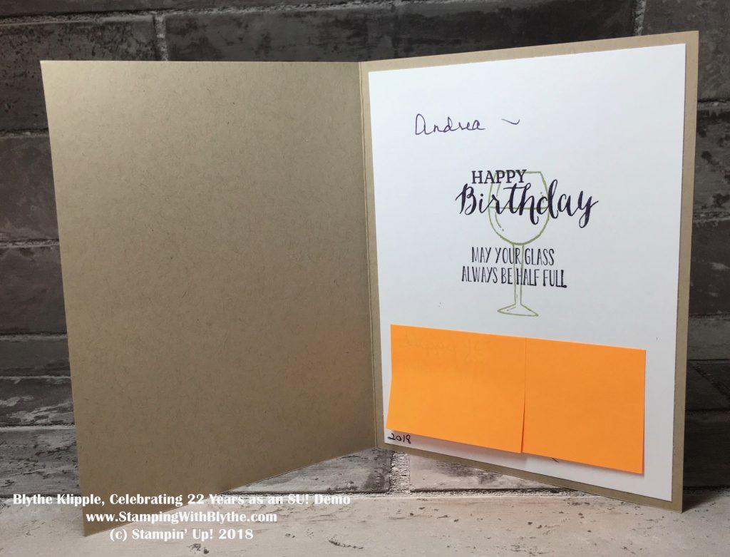 Half Full Birthday Card