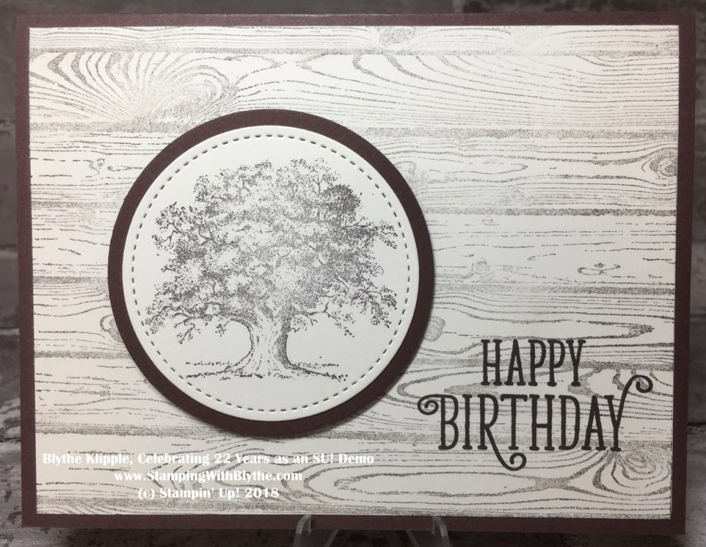 Masculine Birthday Card using Lovely as a Tree