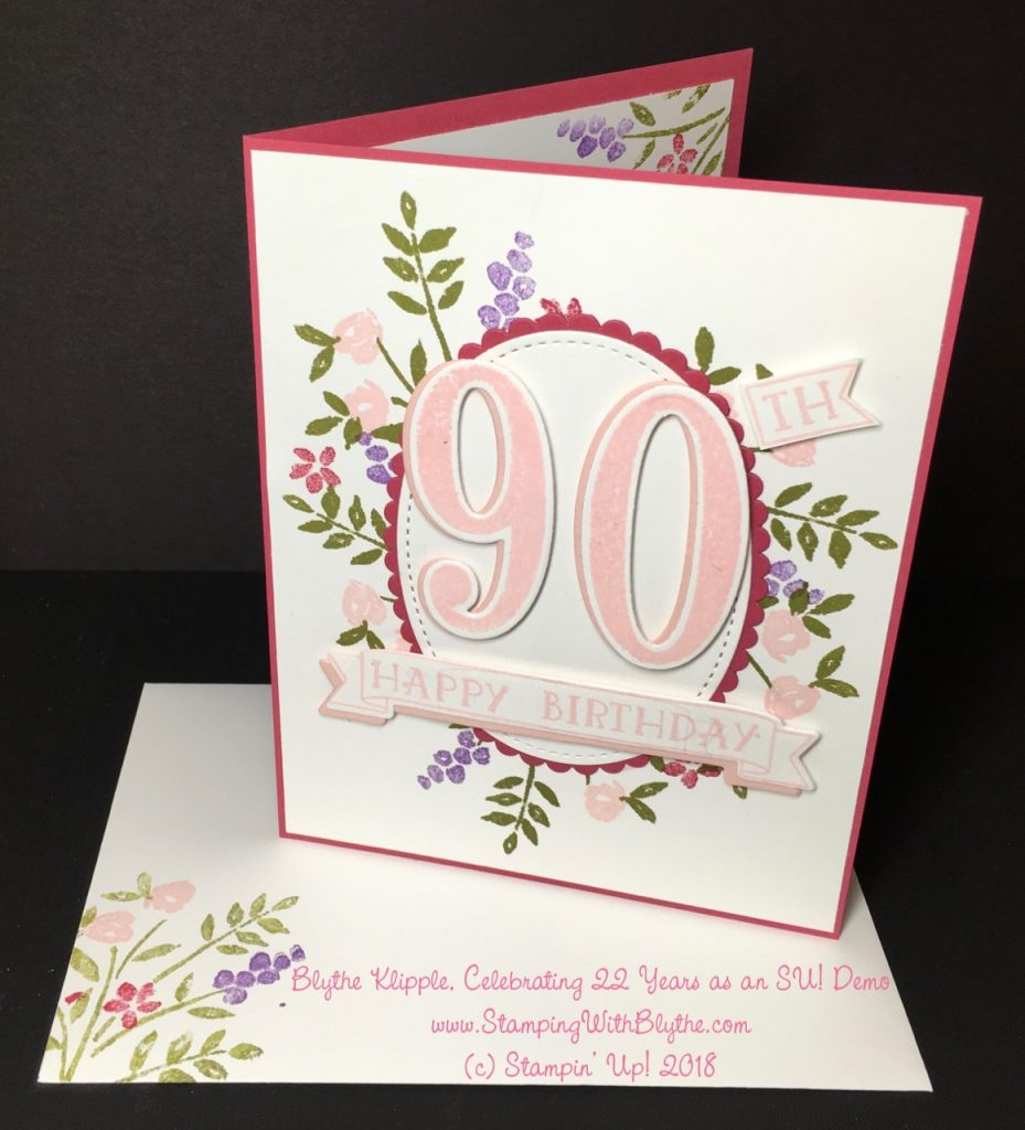 Number of Years Stamp Set - 90th birthday card