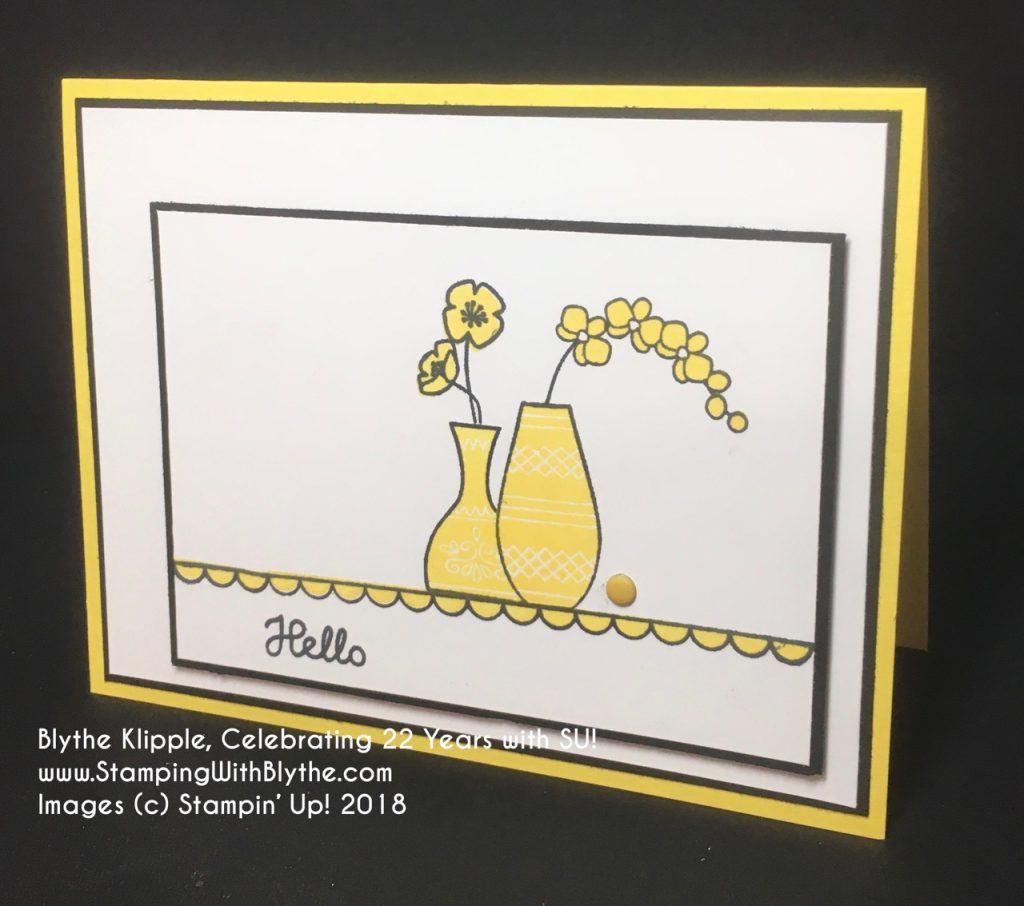 Varied Vases Stamp Set and In Color Designer Series Papers