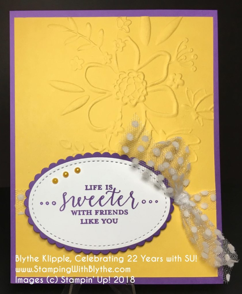 Gorgeous Grape Meets Daffodil Delight