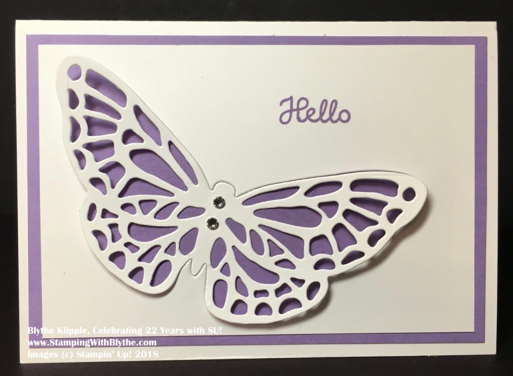 Quick and Easy Butterfly Card - Highland Heather