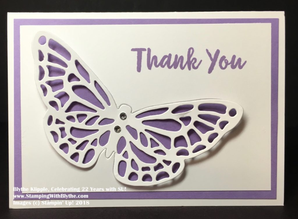 Quick and Easy Butterfly Card