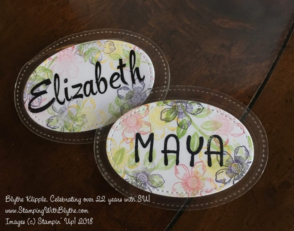 Stitched Shapes Name Tags