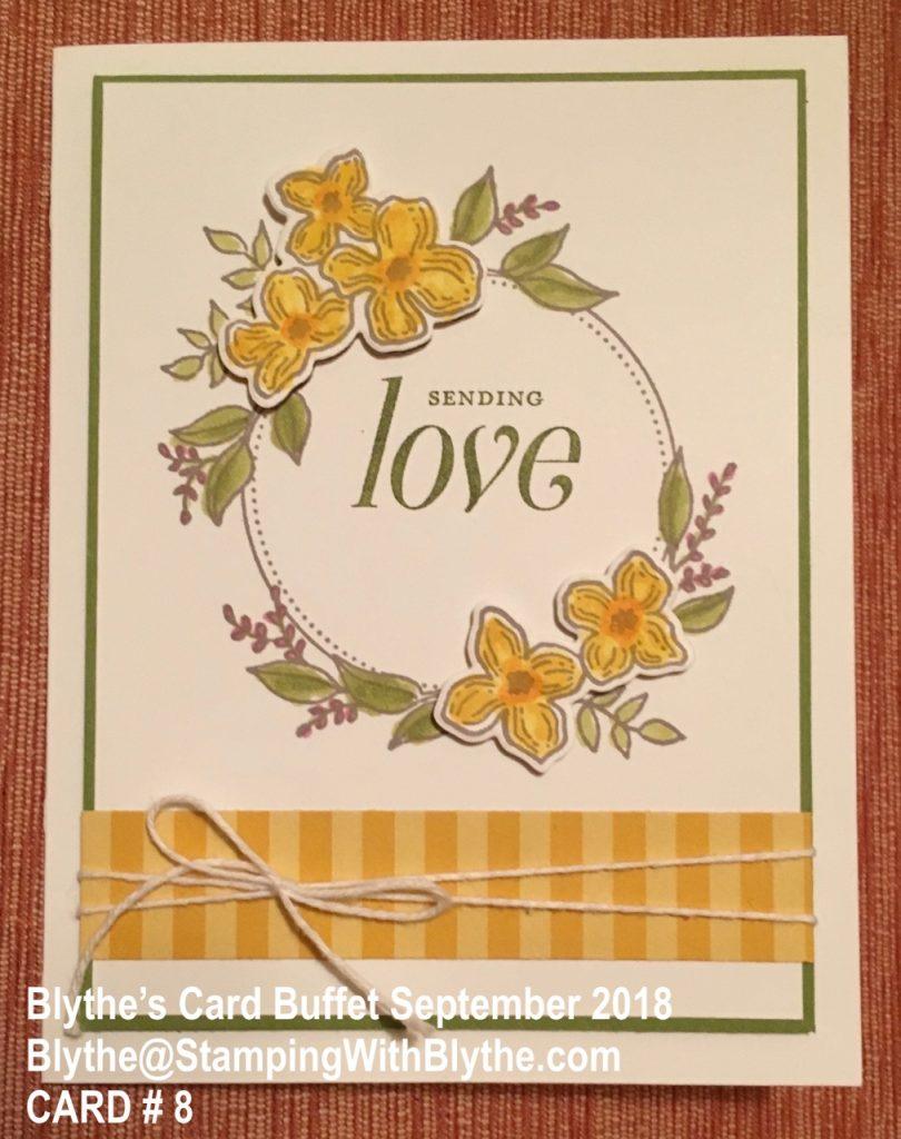 Blythe's September Card Buffet, Cards 1-8, minus #7