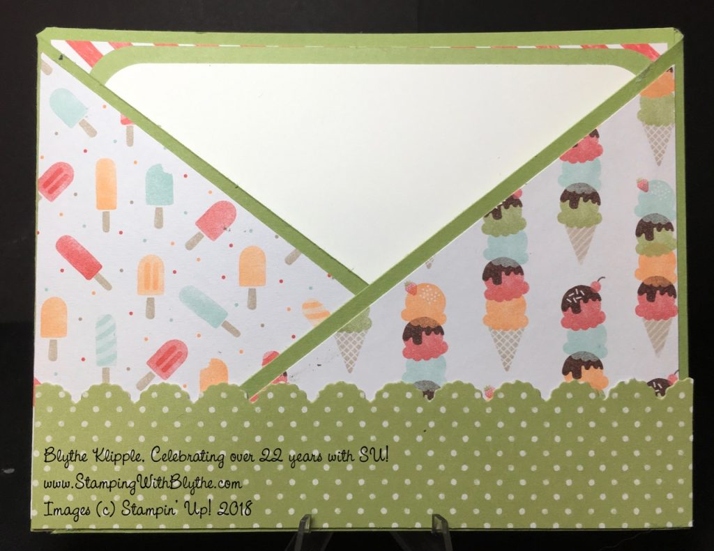Criss-Cross Card - Tasty Treats Specialty Designer Series Paper, retired