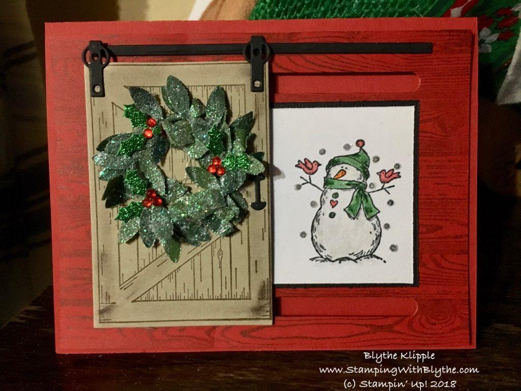 Barn Door Christmas Card