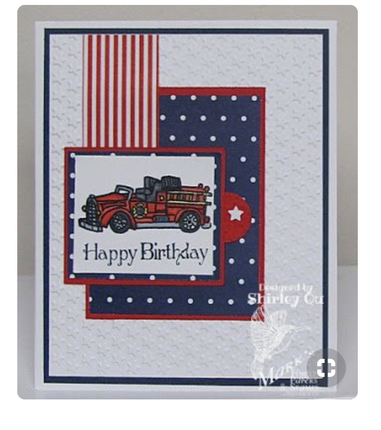 The Second Fire Truck Thank You Card