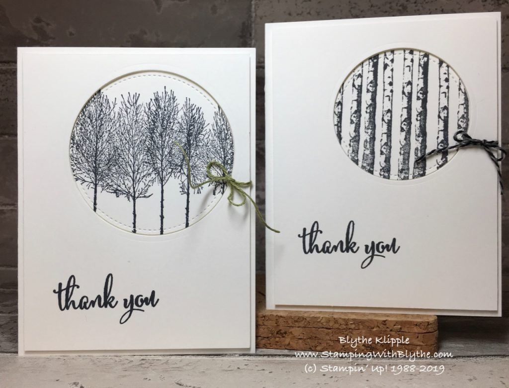 Winter Woods Thank You Cards