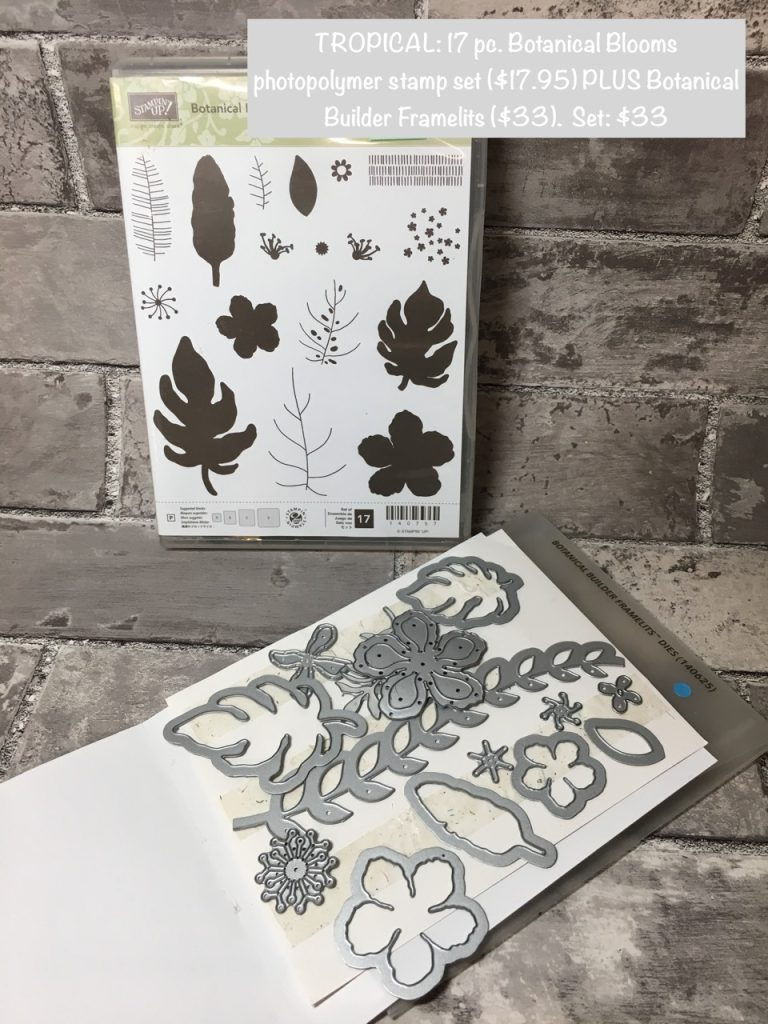 TROPICAL: 2016 Botanical Blooms (Photopolymer) & Botanical Builder Framelits