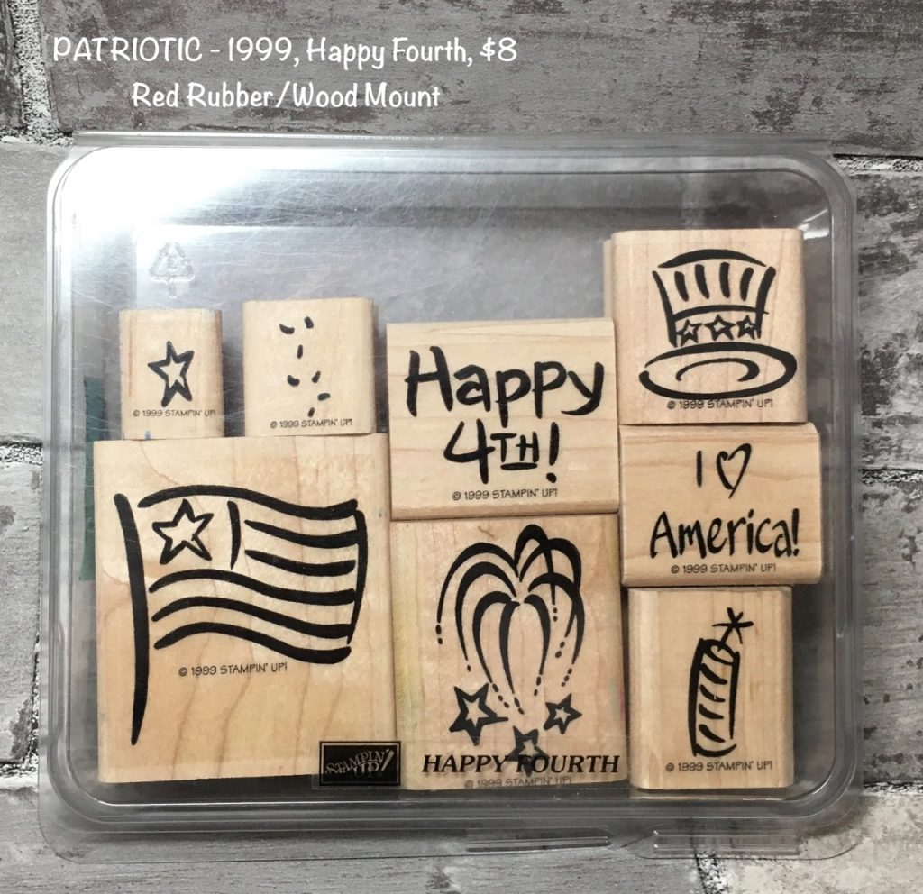 PATRIOTIC - 1999, Happy Fourth Stamp Set, 8 stamps, $8.00