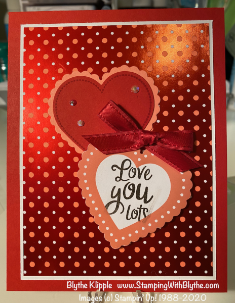 Love you lots valentine card