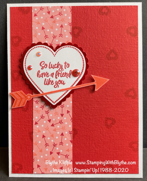 So lucky to have a friend like you valentine card