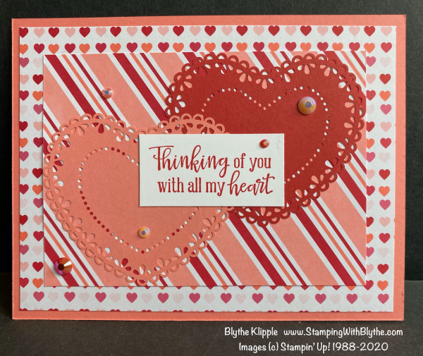 Thinking of you with all my heart valentine card