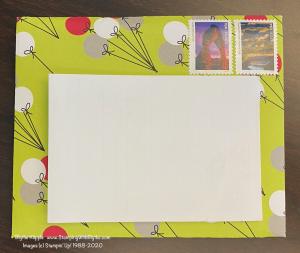 Zion's hand stamped birthday card