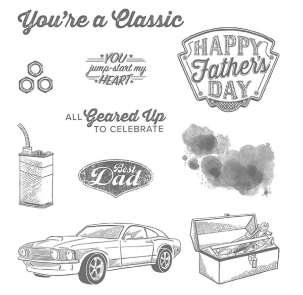 Geared up Garage stamp set by Stampin' Up!