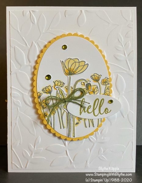 spring/easter hand stamped card