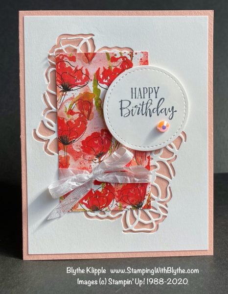 Poppy Moments Birthday Card
