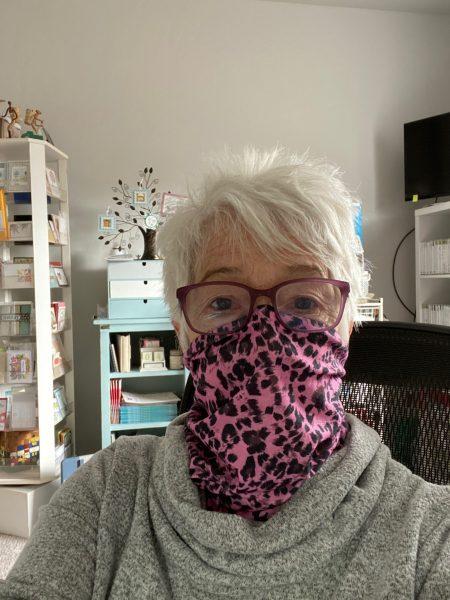 Blythe's protective mask