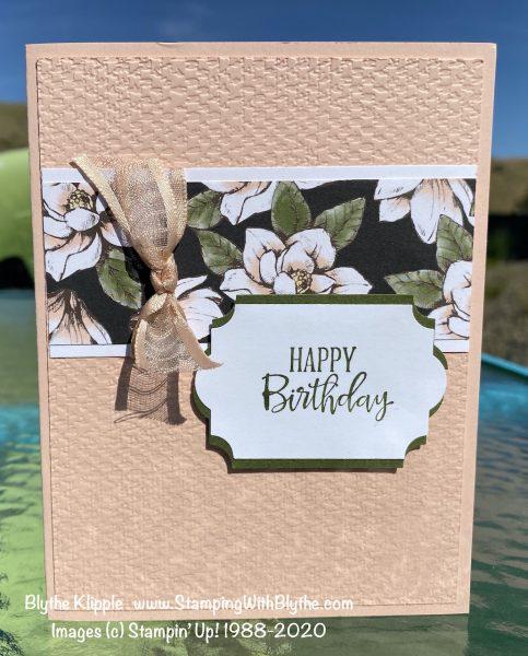 Petal Pink birthday card