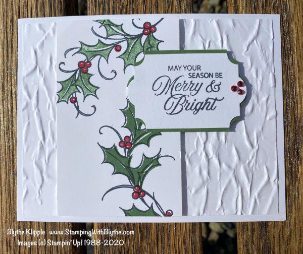Joyful Holly Christmas card