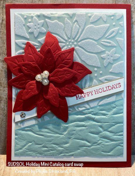 Poinsettia Petals Holiday Card