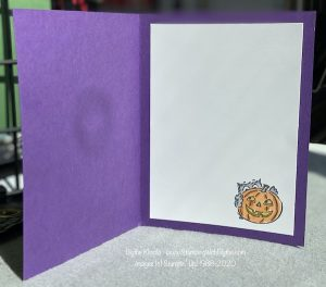 Inside Have a Hoot Halloween card