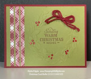 CHRISTMAS CARD BUFFET CARD #3