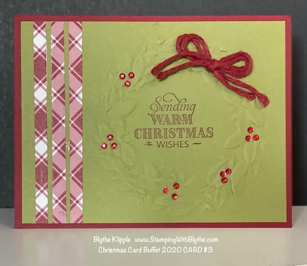 CHRISTMAS CARD BUFFET CARD #3