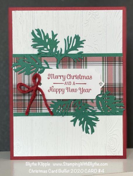 CHRISTMAS CARD BUFFET CARD #4