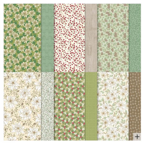 Poinsettia Place Designer Series Paper