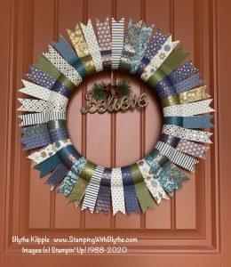 Brightly Gleaming Designer Paper Wreath