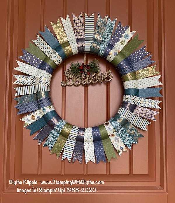 Brightly Gleaming Designer Paper Wreath