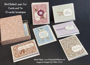 Bird Ballad Laser Cut cards & tin