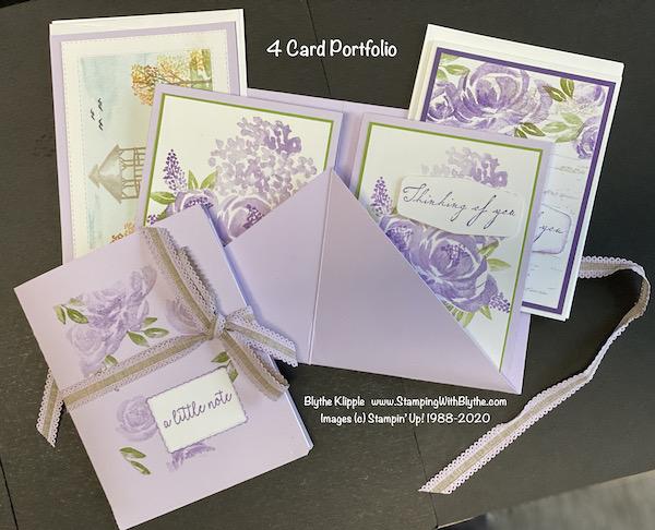 Assorted card portfolio of 4