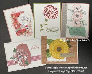 Happy Birthday 5 card set