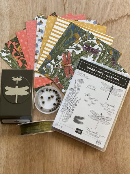 Dragonfly Garden stamp set and coordinating products