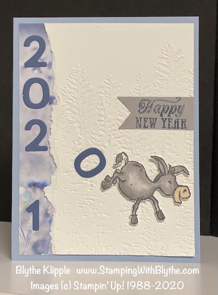 Darling Donkey New Year's card