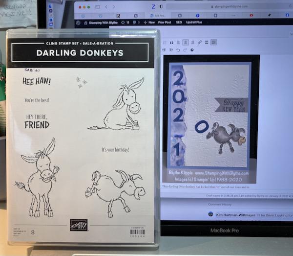 Darling Donkeys & New Year card