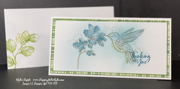 A Touch of Ink slim line card