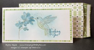 Hummingbird Slim Line Card with DSP envelope